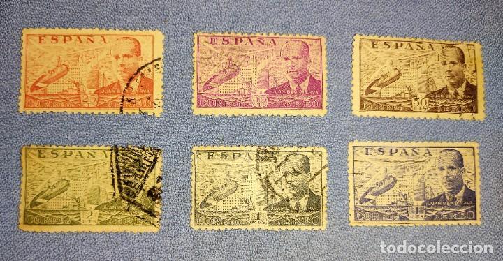 SERIE DE SELLOS JUAN DE LA CIERVA DE 4 2 Y 1 PESETAS Y 50 35 Y 25 CENTIMOS (Sellos - España - II Centenario De 1.950 a 1.975 - Usados)