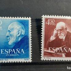 Francobolli: ESPAÑA 1952. EDIFIL 1119/20**. NUEVOS SIN FIJASELLOS, CENTRADO DE LUJO. Lote 275903518