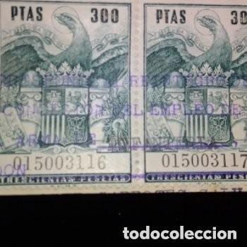 Sellos: Sellos fiscales sellados 4 de 300 ptas numeración correlativa 1 de 200 ptas + bono regalo 2 sellos - Foto 3 - 276187823
