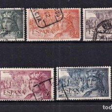 Sellos: SELLOS ESPAÑA AÑO 1952 OFERTA EDIFIL 1111/1115 EN USADO SERIE COMPLETA VALOR DE CATALOGO 22.5 €. Lote 276378448