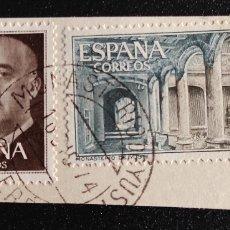 Sellos: SELLOS USADOS. 50 CÉNTIMOS FRANCO 1955. EDIFIL 1149. 1 PESETA MONASTERIO DE YUSTE. EDIFIL 1686. Lote 277193728