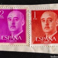 Sellos: SELLOS DE 1 Y 2 PESETAS FRANCO 1955. EDIFIL 1153 Y 1157. Lote 277196748