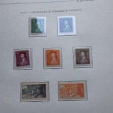 Sellos: SELLOS 1952 V CENTENARIO FERNANDO EL CATÓLICO. Lote 277269878