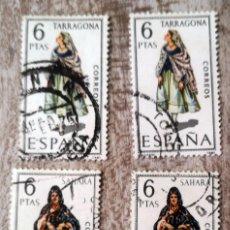 Sellos: 4 SELLOS ESPAÑA AÑO 1970 USADOS TRAJES REGIONALES SAHARA Y TARRAGONA. Lote 277465633