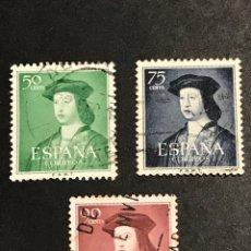 Sellos: EDIFIL 1106 1107 1108 FERNANDO EL CATÓLICO , USADOS , CATÁLOGO 6,5€. Lote 277662883