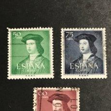 Sellos: EDIFIL 1106 1107 1108 FERNANDO EL CATÓLICO , USADOS , CATÁLOGO 6,5€. Lote 277663038