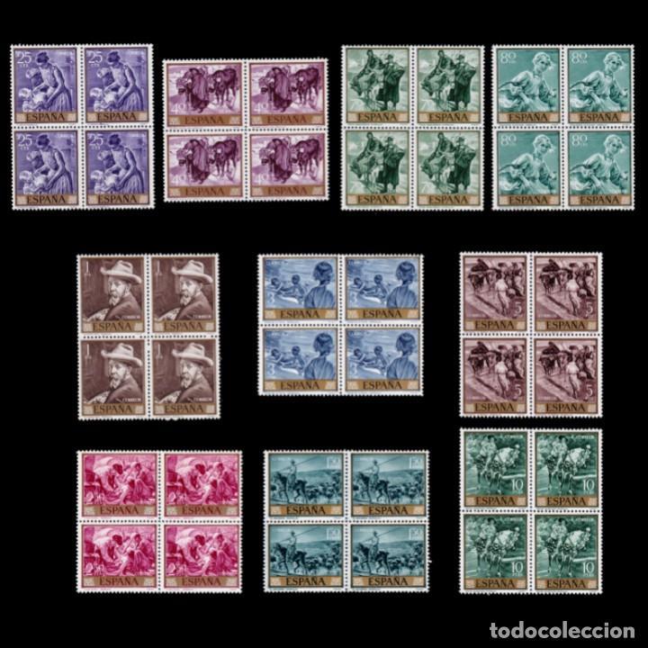 ESPAÑA.1964.JOAQUÍN SOROLLA.SERIE BLQ 4.MNH.EDIFIL.1566-1575 (Sellos - España - II Centenario De 1.950 a 1.975 - Nuevos)