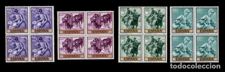 Sellos: España.1964.Joaquín Sorolla.Serie Blq 4.MNH.Edifil.1566-1575 - Foto 2 - 277738273