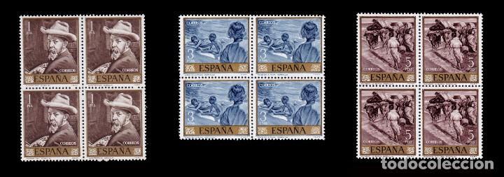 Sellos: España.1964.Joaquín Sorolla.Serie Blq 4.MNH.Edifil.1566-1575 - Foto 3 - 277738273
