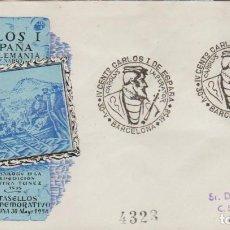 Sellos: SOBRE CONMEMORATIVO, 30 MAYO 1958: ''IV CENT. DE CARLOS I - BARCELONA'' CON ED. 1214 Y .../ FOTO.. Lote 278632938