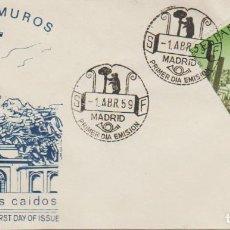 Sellos: SOBRE PRIMER DÍA, 1.ABR.59: ''CUELGAMUROS - VALLE DE LOS CAIDOS'' ED. 1248./ MUY BONITO, FOTO.. Lote 278674353