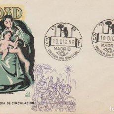 Sellos: SOBRE PRIMER DÍA, 10.DIC.59: ''NAVIDAD 1959: SAGRADA FAMILIA - GOYA'' ED.1253./ MUY BONITO, FOTO.. Lote 278832968