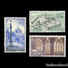 Sellos: EDIFIL 1834-1836 NUEVOS SIN CHARNELA MNH ** 1967 MONASTERIO DE VERUELA. Lote 278921843