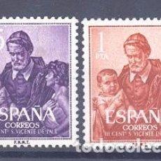Sellos: ESPAÑA SEGUNDO CENTENARIO SERIES Nº 1296/98 ** SAN VICENTE DE PAUL. Lote 278938888