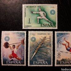 Sellos: ESPAÑA EDIFIL 2098/101 SERIE COMPLETA NUEVA *** 1972 DEPORTES. OLIMPIADA MUNICH 72 PEDIDO MÍNIMO 3€. Lote 279485033