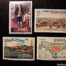 Sellos: ESPAÑA EDIFIL 2107/10 SERIE COMPLETA NUEVA *** 1972 HISPANIDAD. PUERTO RICO. PEDIDO MÍNIMO 3€. Lote 279485048