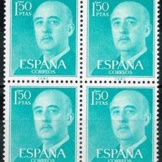 Sellos: SELLOS ESPAÑA. FRANCO SERIE BÁSICA. EDIFIL 1155, DE 1, 50 CÉNTIMOS EN BLOQUE DE 4. MNH**.. Lote 283056838