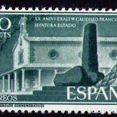 Sellos: SELLOS DE ESPAÑA AÑO 1956 XX ANIVERSARIO JEFATURA DEL ESTADO SELLO NUEVO**. Lote 283279168
