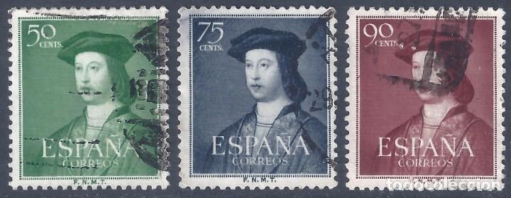 EDIFIL 1106-1108 V CENTENARIO FERNANDO EL CATÓLICO 1952. (Sellos - España - II Centenario De 1.950 a 1.975 - Usados)