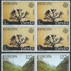 Sellos: ESPAÑA N°2413/14 MNH** EUROPA CEPT 1977 PARQUE DE DOÑANA EN BLOQUES DE 4.. Lote 296735543