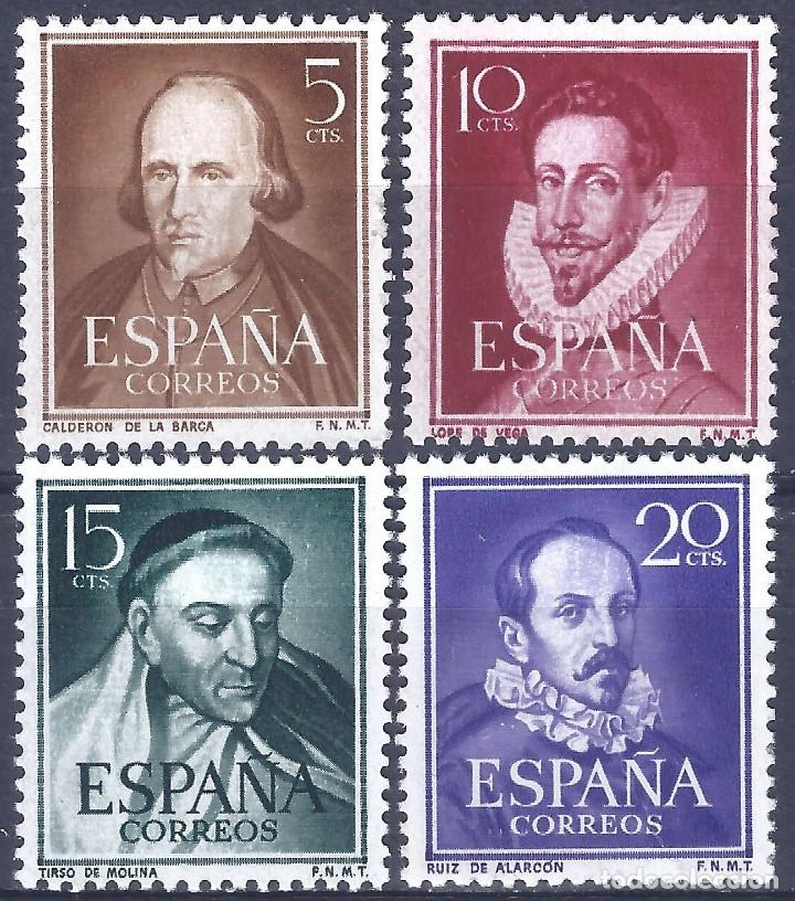 EDIFIL 1071-1074 LITERATOS 1950-1953 (SERIE COMPLETA). EXCELENTE CENTRADO. MNH ** (Sellos - España - II Centenario De 1.950 a 1.975 - Nuevos)
