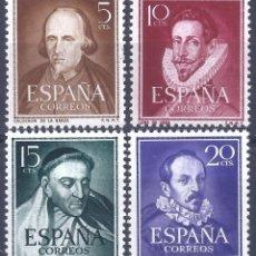 Sellos: EDIFIL 1071-1074 LITERATOS 1950-1953 (SERIE COMPLETA). EXCELENTE CENTRADO. MNH **. Lote 285963883