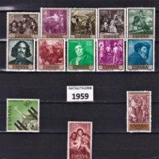 Sellos: SELLOS ESPAÑA OFERTA AÑO 1959* COMPLETO EN NUEVO. Lote 286429248