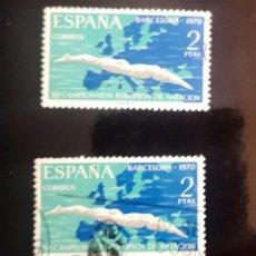 Sellos: ESPAÑA EDIFIL 1989 SERIE COMPLETA USADA. DEPORTES. CAMPEONATOS EUROPEOS DE NATACIÓN 1970. Lote 287321803