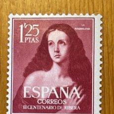 """Timbres: 1954, RIBERA """"EL ESPAÑOLETO"""", EDIFIL 1129, NUEVO CON FIJASELLOS. Lote 287412703"""