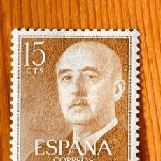 Timbres: 1955-1956, GENERAL FRANCO, EDIFIL 1144, NUEVO CON FIJASELLOS. Lote 287629768
