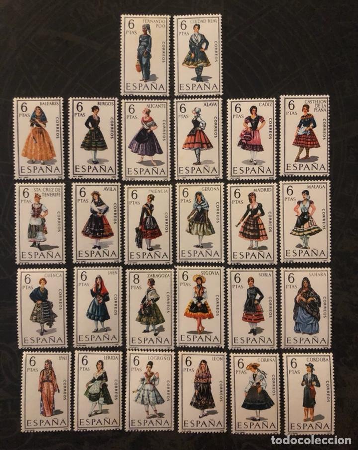 LOTE 26 SELLOS ESPAÑA TRAJES REGIONALES (439) (Sellos - España - II Centenario De 1.950 a 1.975 - Usados)