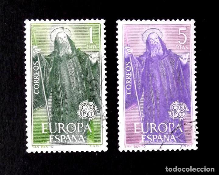 1675-76, SERIE USADA, FOTO ESTÁNDAR. EUROPA-CEPT. (Sellos - España - II Centenario De 1.950 a 1.975 - Usados)