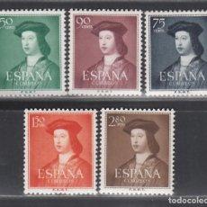 Sellos: ESPAÑA, 1952 EDIFIL Nº 1106 / 1110 /**/, FERNANDO EL CATÓLICO, SIN FIJASELLOS. Lote 287938823