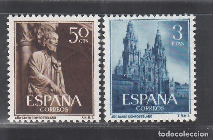 ESPAÑA, 1954 EDIFIL Nº 1130 / 1131 /**/, AÑO SANTO COMPOSTELANO, SIN FIJASELLOS (Sellos - España - II Centenario De 1.950 a 1.975 - Nuevos)