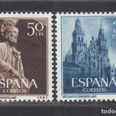 Sellos: ESPAÑA, 1954 EDIFIL Nº 1130 / 1131 /**/, AÑO SANTO COMPOSTELANO, SIN FIJASELLOS. Lote 287939043