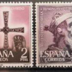 """Sellos: ESPAÑA 1961. EDIFIL 1394/1399. SERIE COMPLETA """"FUNDACIÓN DE OVIEDO"""". MNH***. Lote 288068358"""