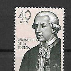 Sellos: J. FRANCISCO DE LA BODEGA (1743-1794). MARINO. ESPAÑA. SELLO AÑO 1967. Lote 288718923