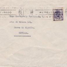 Sellos: SOBRE CON SELLO DE POLIZA DE 1 PESETA MATASELLO DE RODILLO DE CADIZ DE 1986. Lote 289232133