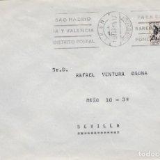 Sellos: SOBRE CON SELLO DE MUTUALIDAD DE IRUN A SEVILLA CON MATASELLO RODILLO Y FIRMA DEL CARTERO. Lote 289232678