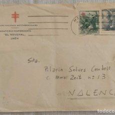 Sellos: SOBRE CIRCULADO PATRONATO NACIONAL ANTITUBERCULOSO SANATORIO-ENFERMERÍA EL NEVERAL JAÉN. Lote 289470983