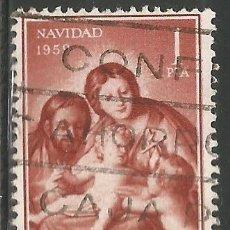 Sellos: ESPAÑA - 1959 - 1 PESETA - NAVIDAD - USADO. Lote 289475078
