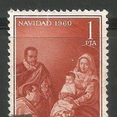 Sellos: ESPAÑA - 1960 - 1 PESETA - NAVIDAD - USADO. Lote 289475278