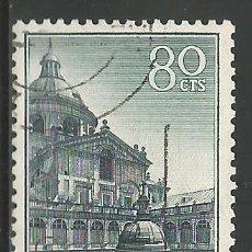 Sellos: ESPAÑA - 1961 - 80 CENTIMOS - MONASTERIO DEL ESCORIAL - EDIFIL 1383 - USADO. Lote 289479633