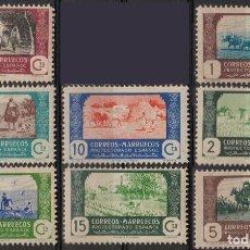 Sellos: MARRUECOS 1941, EDIFIL 246/53 SER. CORTA. ''AGRICULTURA''./ VER FOTOS.. Lote 289523233