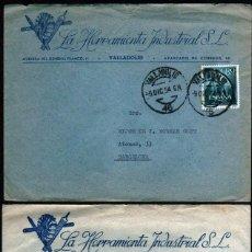 Sellos: GIROEXLIBRIS. SOBRES COMERCIALES DE LA HERRAMIENTA INDUSTRIAL S.L.DE VALLADOLID CIRCULADOS EN 1954. Lote 289546798