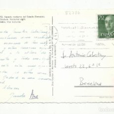 Sellos: POSTAL CIRCULADA BERNABEU ESTADIUM DE MADRID A BARCELONA. Lote 289574733