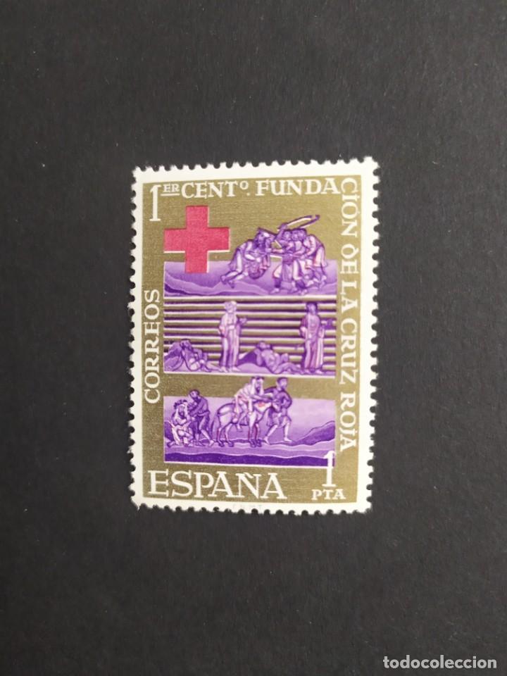 ## ESPAÑA NUEVO 1963 CENTENARIO CRUZ ROJA ## (Sellos - España - II Centenario De 1.950 a 1.975 - Nuevos)