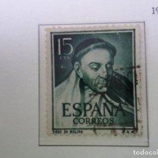 Sellos: 1950, LITERATOS, TIRSO DE MOLINA, EDIFIL 1073. Lote 289718263