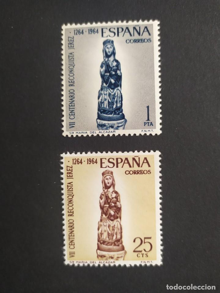 ## ESPAÑA NUEVO 1964 CENTENARIO RECONQUISTA JEREZ 2 SELLOS## (Sellos - España - II Centenario De 1.950 a 1.975 - Nuevos)