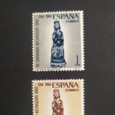 Sellos: ## ESPAÑA NUEVO 1964 CENTENARIO RECONQUISTA JEREZ 2 SELLOS##. Lote 289719788